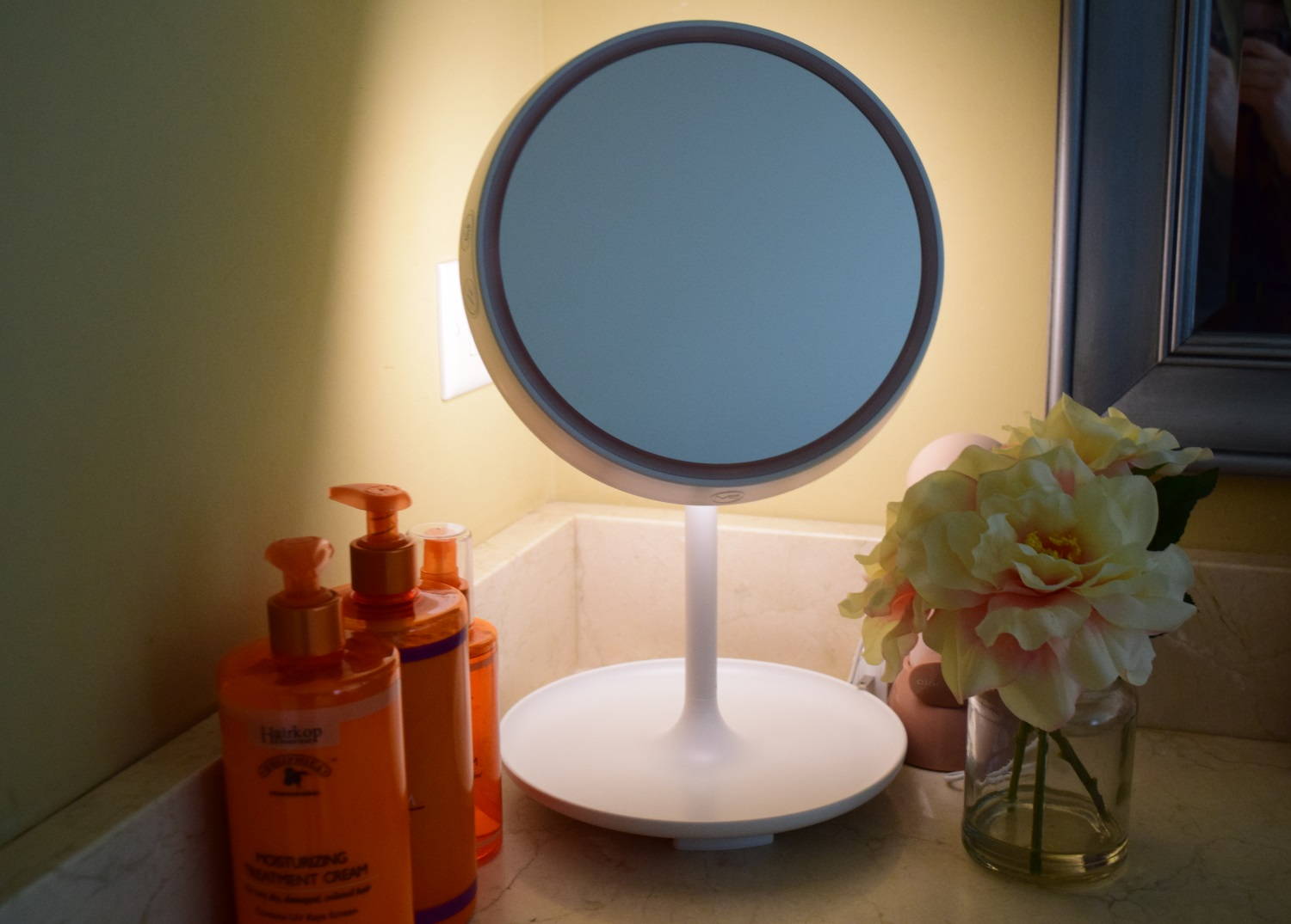 MelodySusie Narcissus Makeup Mirror and Lamp | Beauty and Fashion Tech for Ring Light Makeup Mirror  55jwn