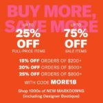 ShopBop Buy More Save More Sale!