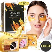 24K Gold Rose Black Anti Wrinkle Gel Mask For Puffy Eyes