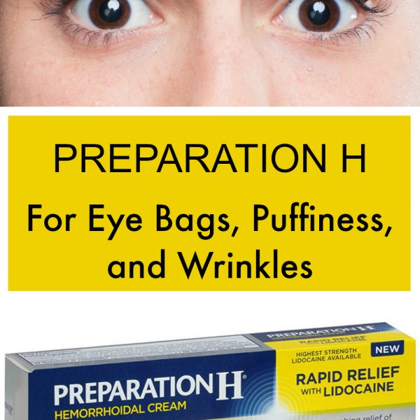 Read this before adding Preparation H to your skincare regime for eyes. You might have heard that Preparation H is great for eye bags, dark circles, puffiness, and wrinkles. Maybe you have even seen before and after photos showing that it works. But is it safe? Learn more about it before trying to use Preparation H on your face or for other alternate uses. #preparationH #eyes #skincare #face #beauty