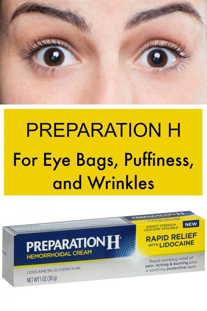 Preparation H for eye bags