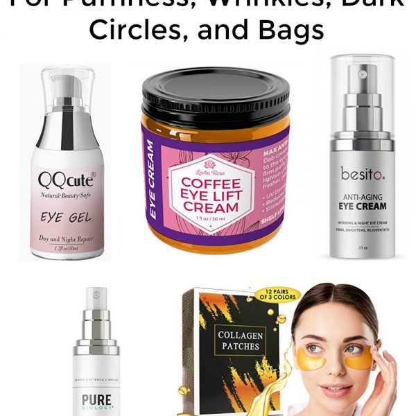 Find the best eye cream for bags, wrinkles, dark circles, and puffiness here. Plus tips for treating your eye bags and puffy eyes. These are great anti aging products that get great reviews! #eyecream #puffiness #wrinkles #eyebags #darkcircles.